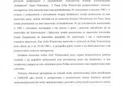 Zofia Wiśniewska-o działalności opozycyjnej i doznanych represjach.c.d.