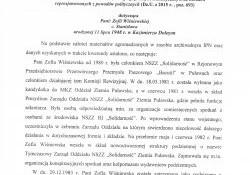 Zofia Wiśniewska-o działalności opozycyjnej i doznanych represjach.